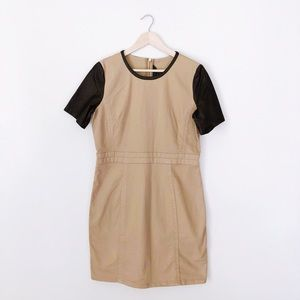 Marc by Marc Jacobs Leather Sleeve Dress